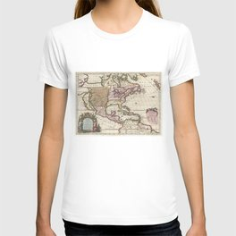 Vintage Map of The Americas (1698) T-shirt
