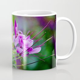 Purple Spider Flower Coffee Mug