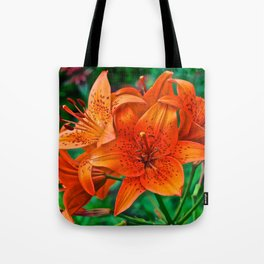 Orange Tiger Lilies - The Peace Collection Tote Bag