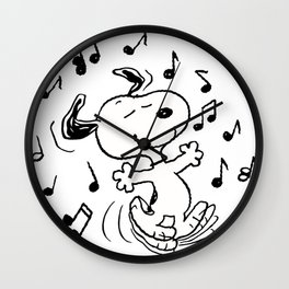 Dancing Snoopy Wall Clock