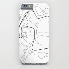 Raceway Laguna Seca Circuit iPhone Case