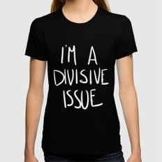 ISSUE Black Womens Fitted Tee LARGE