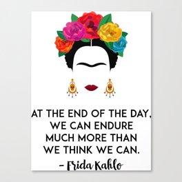 Frida's Strength Canvas Print