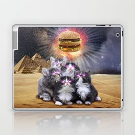 space cats looking for the burger Laptop & iPad Skin