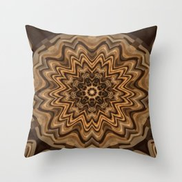 Sequential Baseline Mandala 34 Throw Pillow