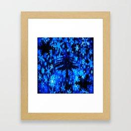 Christmas night Framed Art Print