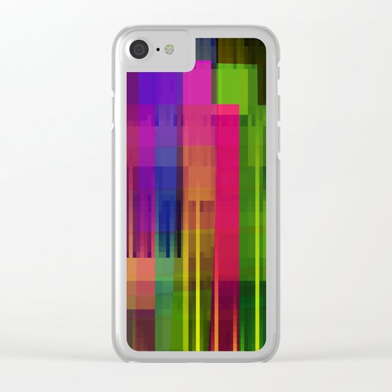 pushin' color Clear iPhone Case