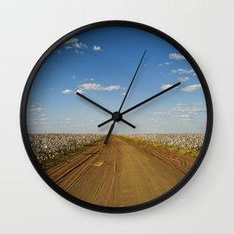 Cotton Fields in Brazil Wall Clock