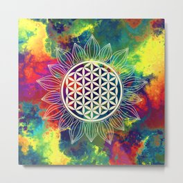 Flower Of Life (Lively World) Metal Print