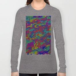 'Splattering of 80's' Abstract Digital Painting Print Long Sleeve T-shirt