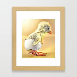 Hatched Chick Airbrush Artwork Framed Art Print