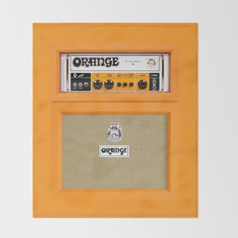 Bright Orange color amplifier amp Throw Blanket