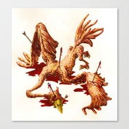 THE BIRD WOUNDED BY AN ARROW Canvas Print