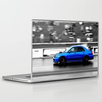 subaru Laptop & iPad Skins featuring Subaru Racer by VHS Photography