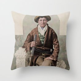 Calamity Jane 1895 Throw Pillow