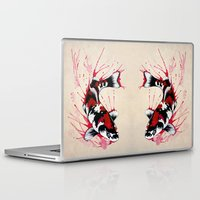 koi fish Laptop & iPad Skins featuring Koi by Puddingshades