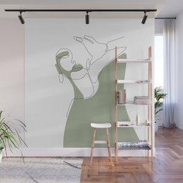 Olive Selfie Wall Mural