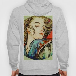 "Alphonse Mucha ""Portrait of a Young Woman"" Hoody"