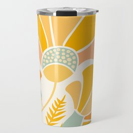 Summer Wildflowers in Golden Yellow Travel Mug