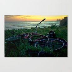 turned over bike Canvas Print