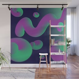 Dope gradient blobs from space Wall Mural