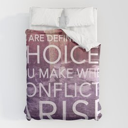 Defined by Conflict Comforters