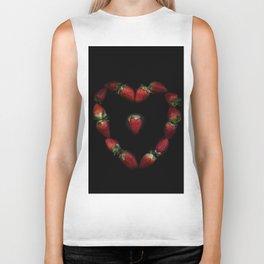 Heart of strawberries Biker Tank