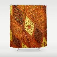 batik Shower Curtains featuring batik  by customgift