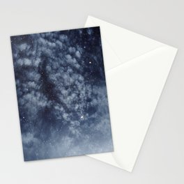 Blue veiled moon II Stationery Cards