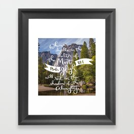 Psalm 91 with Background Framed Art Print