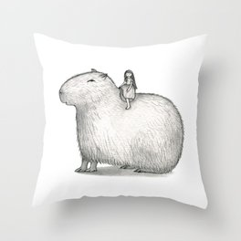 I LOVE CAPYBARA Throw Pillow