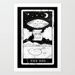 'The UFO' Tarot Card Art Print