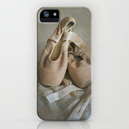 Creamy pointe ballet shoes iPhone Case