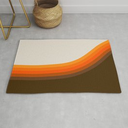 Golden Horizon Diptych - Right Side Rug