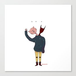 2 Headed Boy Canvas Print