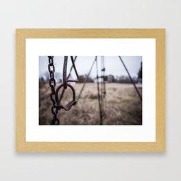 Swing Set Framed Art Print