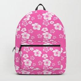 Pink Hibiscus Honu Hawaiian Pattern Backpack
