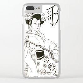 Geisha #3 Clear iPhone Case