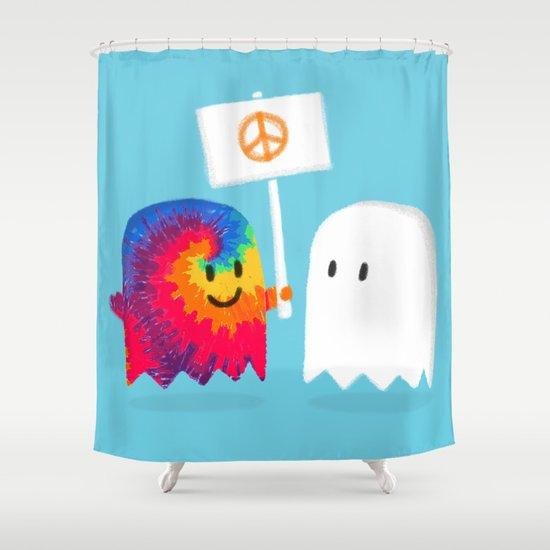 Hippie ghost Shower Curtain