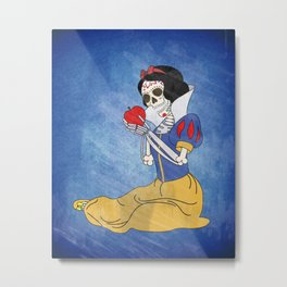 Day of the Dead/Snow White Metal Print