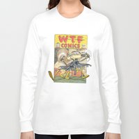 comic book Long Sleeve T-shirts featuring A Comic Book Villian  by Berni Store