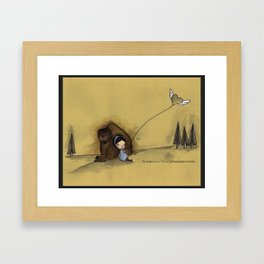 to make a new friend (if hesitantly at first) Framed Art Print