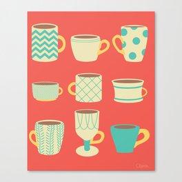 Retro Cups Canvas Print
