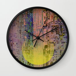In The Transparent Places Wall Clock
