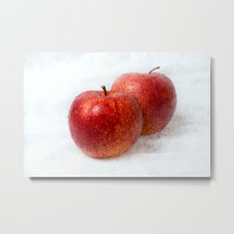 Two red apples Metal Print
