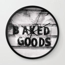 Baked Goods Wall Clock