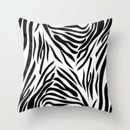 Black and White Zebra Print Throw Pillow