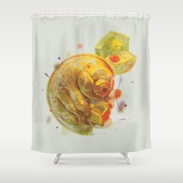 Tardigrade Party Shower Curtain