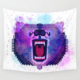 Lilac Geometric Bear Wall Tapestry