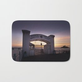 Dawn at Mumbles Pier Bath Mat